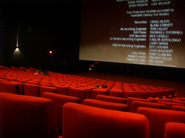 Movie seats and credits